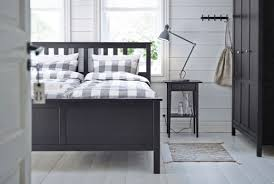 this black brown hemnes double bed in durable solid wood has that elegant yet bedroom sets ikea ikea
