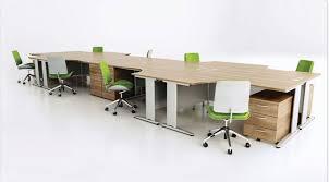 atmosphere crescent set of 8 birch birch office furniture