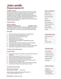 waitress resume example for objective   skills and experience        cv resume example for physics teacher with career history and teaching abbilities  waitress resume