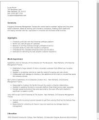 emergency management resume   sales   management   lewesmrsample resume  enterprise management trainee resume templates