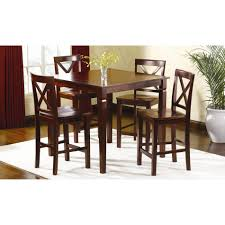 Jaclyn Smith Dining Room Furniture Jaclyn Smith 5 Pc Mahogany High Top Dining Set Victory Land