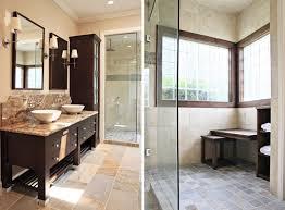 alluring design ideas of bathroom with dark brown wooden f vanity and combine wiith shower glass bathroom vanity lighting remodel custom