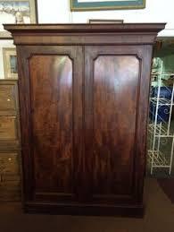 antique flame mahogany gentlemans wardrobe armoire closet antique english mahogany armoire furniture