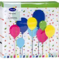 <b>Салфетки Duni</b> бумажные трехслойные <b>Balloons and</b> confet ...