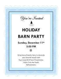 barn parties holiday barn party flyer