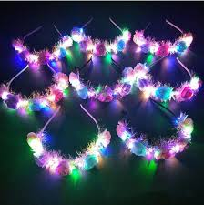 <b>Flashing LED</b> Hairbands Glowing <b>Flower</b> Crown Headbands <b>Light</b> ...