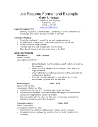 choose  resume examples job resume format and example for career    resume examples job resume format and example for career objective with work experience as web