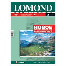 Купить бумагу <b>Фотобумага Lomond A4</b>, 140гр, 25л белый ...