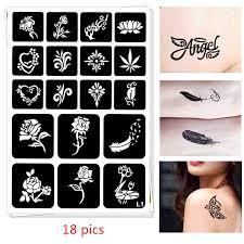 Detail Feedback Questions about 12 <b>pics Henna</b> Tattoo Stencil DIY ...