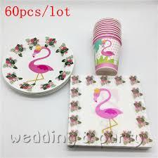 Flamingo Theme <b>60pcs</b>/<b>lot</b> design child birthday happy party minnie ...