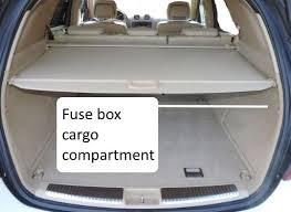 fuses w164 m class 2006 2011benz box location fuse chart fuse box in back cargo compartment trunk