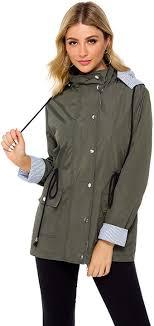 bedee Women's Raincoats Windbreaker RainJackets ... - Amazon.com