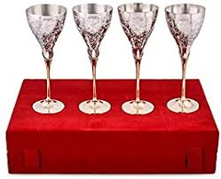 Silver - Red Wine Glasses / Wine Glasses: Home ... - Amazon.in