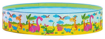 Детский <b>бассейн Jilong Dinosaur</b> Rigid JL017128NPF — купить по ...
