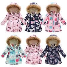 Miss Bei Girls Kids Toddler <b>Winter</b> Flower Print Parka Outwear <b>Warm</b> ...