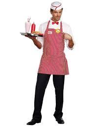 diner dude s men s costume s fancy dress play party dreamgirl diner dude 1950s men s costume