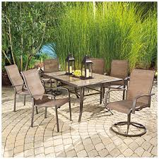 tile top patio dining table
