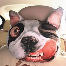 <b>1pc</b> Creative 3D SharPei Dog Face <b>Car</b> Neck Pillow <b>Soft Auto</b> Head ...