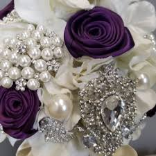 <b>SILK FLOWER BOUQUET</b>   Blinged Bouquet