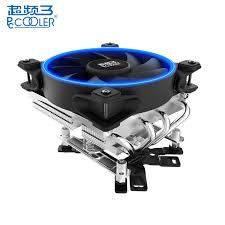 <b>PCCOOLER 12cm Air CPU</b> Cooler Cooling Fans 4 Heatpipes LED ...