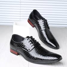 <b>SYWGDC</b> New Snakeskin Pattern <b>Men</b> Oxford Shoes Lace Up ...