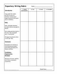 Rubric for essay question on test ASB Th  ringen