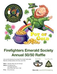 pot of gold party suffolk county firefighters emerald society 2014 pog flyer