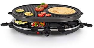 <b>Raclette Grill</b> - Gourmet Raclette Party Grill Set for 8 persons ...