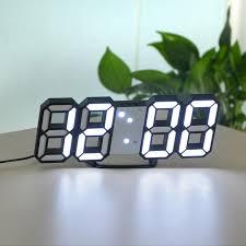 Home <b>3D LED Digital</b> Clock Glowing Night Mode Brightness ...
