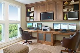 amagansett beach retreat beach style home office idea in new york with a built in desk built office furniture