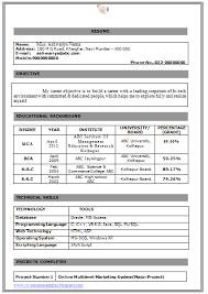 Resume Format For Job Fresher Sample Samples Examples  Fresher     Pinterest Resume Format For Freshers Bca