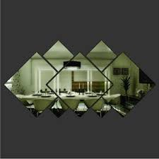 <b>7pcs</b> Lot <b>Set Acrylic</b> Silver Window <b>Wall</b> Sticker <b>Mirror</b> Shining ...