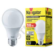 <b>Лампа светодиодная LED 10вт</b> Е27 белая (94388 <b>NLL</b>-<b>A60</b> ...