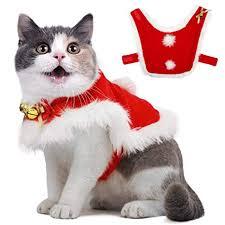 <b>Pet Christmas Cloak</b> Costume with Bells Soft Thick Fabric <b>Pet</b> ...