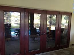 patio doors with blinds between the glass: fiberglass french door with blinds sliding glass door replacement with pvc jambs