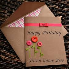 Write-<b>Name</b>-On-Happy-Birthday-Button-<b>Greeting</b>-Card-For-Friend ...