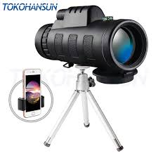 TOKOHANSUN <b>40x60 zoom Monocular Telescope</b> Wide angle ...