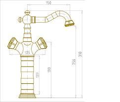 10219/1 - Бронзовый смеситель для <b>раковины</b> в <b>бронзе</b>
