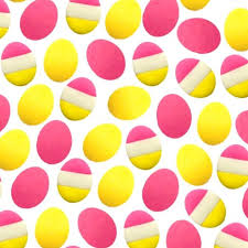 Easter Egg <b>Pink</b> and Yellow Mini Marzipan <b>Candy Bites</b> | marzipops