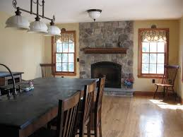 farmhouse kitchen fireplace design