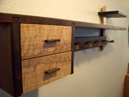 ideas wall shelf hooks: old and vintage diy wood mantel floating wall shelf with drawer and hooks for small and narrow hallway ideas