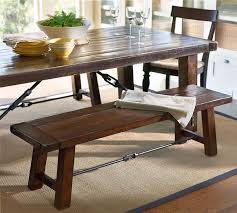 pottery barn style dining table: kitchen dining room table with bench