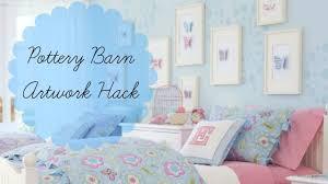 Pottery Barn Girls Bedroom Girls Bedroom Diy Pottery Barn Kids Artwork Hack Inexpensive