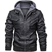 Amazon Best Sellers: Best <b>Men's</b> Leather & <b>Faux Leather Jackets</b> ...