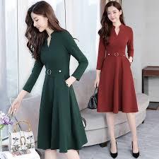 Plus Size 2019 Autumn Winter <b>New</b> Black Midi Dresses <b>Women</b> ...