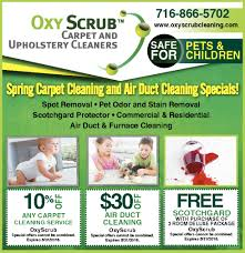 oxy scrub spring carpet cleaning and air duct cleaning specials oxy scrub home improvements ads from buffalo news