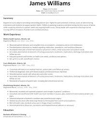 registered nurse resume sample com include a clinical experience section