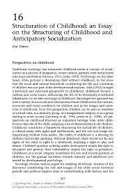 structuration of childhood an essay on the structuring of inside