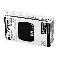 <b>Перчатки нитриловые</b> Heliomed <b>Manual</b> BN117 Black Nitrile
