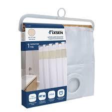 <b>Штора для ванны Fixsen</b> FX-5115A 180х180 белая купить за 1268 ...